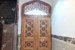 درب چوبی ورودی مسجد امام سجاد مشهد