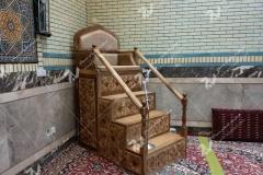 منبر چوبی چهار پله طرح الماس ایرانی مسجد امام سجاد یابان طبرسی مشهد