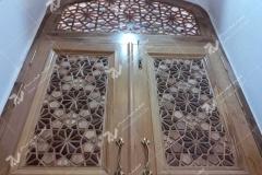 درب چوبی سنتی مسجد امام سجاد