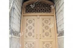 (4) درب سنتی و چوبی گره چینی توپر و سردرب مشبک مسجد امام سجاد(ع) - طبرسی شمالی - مشهد مقدس