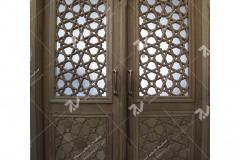درب سنتی و چوبی گره چینی مشبک مجتمع آموزشی سیدالشهدا- عدل خمینی- مشهد مقدس (3)