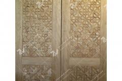 درب سنتی چوبی با هنر گره چینی مجتمع فرهنگی ومسجد حضرت جوادالائمه (ع)- شریعتی- مشهد مقدس (2)