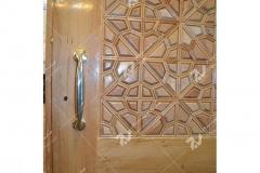 (3) درب سنتی گره چینی چوب مسجد وحسینیه امام رضا (ع) باهنر- مشهد مقدس