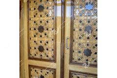 (3) درب چوبی سنتی گره چینی توپرمسجد و حسینیه امام هادی (ع) – خیابان وحدت - مشهد مقدس