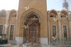 (5) درب سنتی گره چینی چوبی ورودی موسسه تراث الشهید حکیم – عراق - نجف اشرف