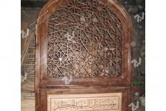 (6) ساخت سردرب چوبی گره چینی مشبک ورودی موسسه تراث الشهید حکیم – عراق - نجف اشرف