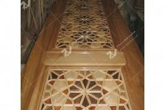 (9) ساخت درب چوبی گره چینی موسسه تراث الشهید حکیم – عراق - نجف اشرف