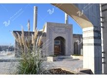 (1)درب چوبی گره چینی مسجد وحسینیه شهدای دانشگاه آزاد نیشابور