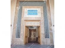 (10)ساخت درب های چوبی و سنتی مسجد وحسینیه شهدای دانشگاه آزاد نیشابور