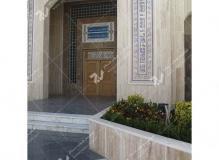 (4)ساخت درب تمام چوب گره چینی مسجد وحسینیه شهدای دانشگاه آزاد نیشابور