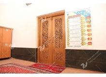 (6)درب سنتی چوبی گره چینی مشبک و توپر مسجد وحسینیه شهدای دانشگاه آزاد نیشابور
