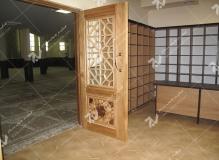 (12) درب چوبی سنتی گره چینی مشبک مسجد دانشگاه آزاد قوچان