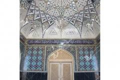 (11) درب چوبی گره چینی سنتی و آیینه کاری مسجد دانشگاه آزاد قوچان