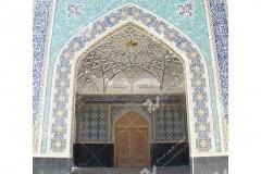 (3) درب چوبی گره چینی مسجد دانشگاه آزاد قوچان