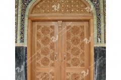(4) درب سنتی چوبی گره چینی تند دوازده مسجد دانشگاه آزاد قوچان