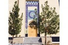 (1) درب چوبی سنتی گره چینی مسجد دانشگاه آزاد شاهرود