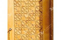 (11) درب سنتی چوبی گره چینی هنر دست مسجد دانشگاه آزاد شاهرود