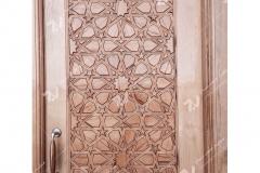 (4) درب چوبی گره چینی تند ده مسجد دانشگاه آزاد شاهرود
