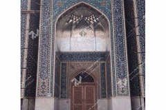 (7) درب سنتی گره چینی توپر و مشبک مسجد دانشگاه آزاد شاهرود
