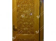 (10) درب چوبی سنتی گره چینی مربع مسجد دانشگاه آزاد شاهرود