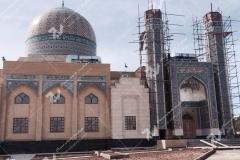 (2) ساخت درب چوبی سنتی گره چینی مسجد دانشگاه آزاد شاهرود