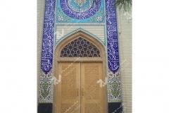 (6) درب چوبی و درب سنتی گره چینی مسجد دانشگاه آزاد شاهرود