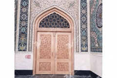 (9) درب چوبی سنتی گره چینی مسجد دانشگاه آزاد شاهرود