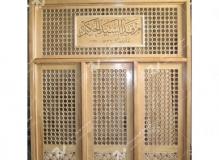 (5)گره چینی چوب و مشبک ضریح مرقد مطهر آیت الله سید محسن حکیم (ره) – عراق - نجف اشرف