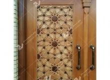 (2) درب سنتی گره چینی چوب و مشبک ارسی حسینیه جان نثاران پنج باب الحوائج -17شهریور- مشهد مقدس