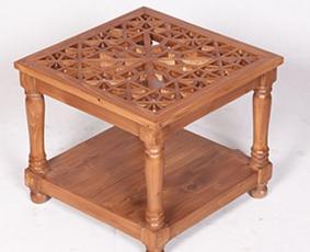میز عسلی ، پذیرایی (کنارمبلی) چوبی سنتی مشبک گره چینی – سمن کد ۳۱۱