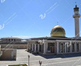 درب های چوبی گره چینی طرح شمسه هشت چهار لنگه - مسجد حضرت فاطمه (س) - جمهوری آذربایجان