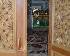 درب چوبی گره چینی درب چوبی گره چینی طرح تند ده - نجف اشرف