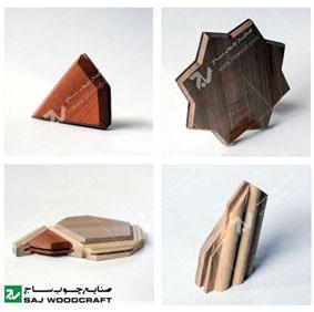 طرح های هندسی با چوب گره چینی چوب
