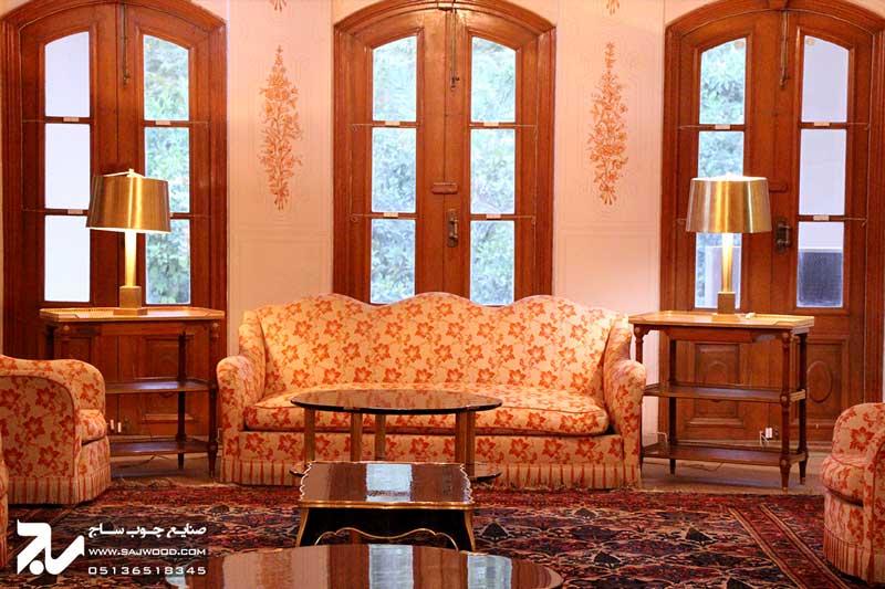 پنجره چوبی سنتی |باغ عفیف آباد ( گلشن )