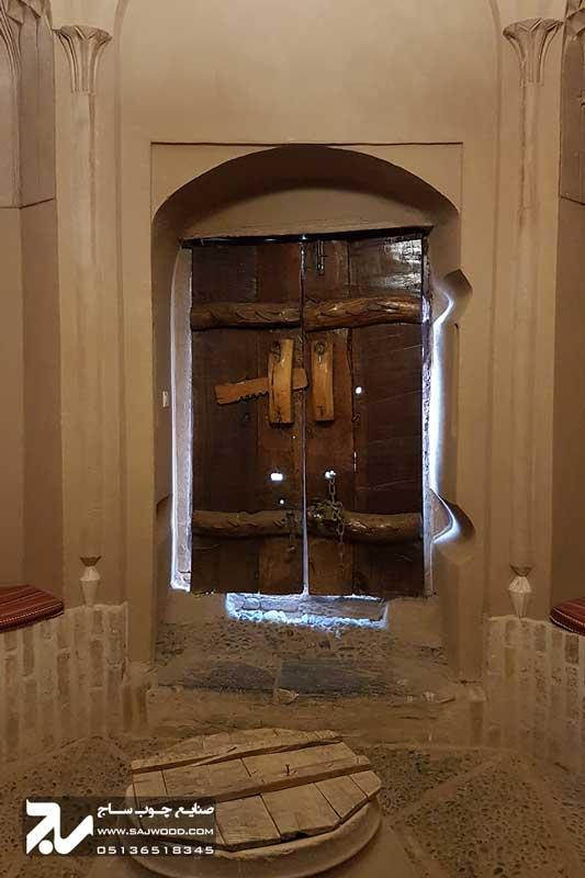 پنجره شیشه رنگی چوبی سنتی ارسی|خانه سه نیک