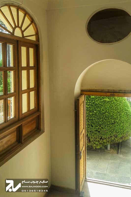 درب و پنجره چوبی سنتی|موزه هنرهای معاصر اصفهان