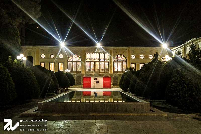 پنجره ارسی شیشه رنگی چوبی سنتی|موزه هنرهای معاصر اصفهان