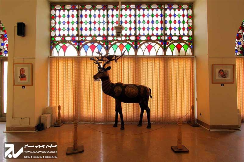 پنجره شیشه رنگی چوبی سنتی ارسی|موزه هنرهای معاصر اصفهان
