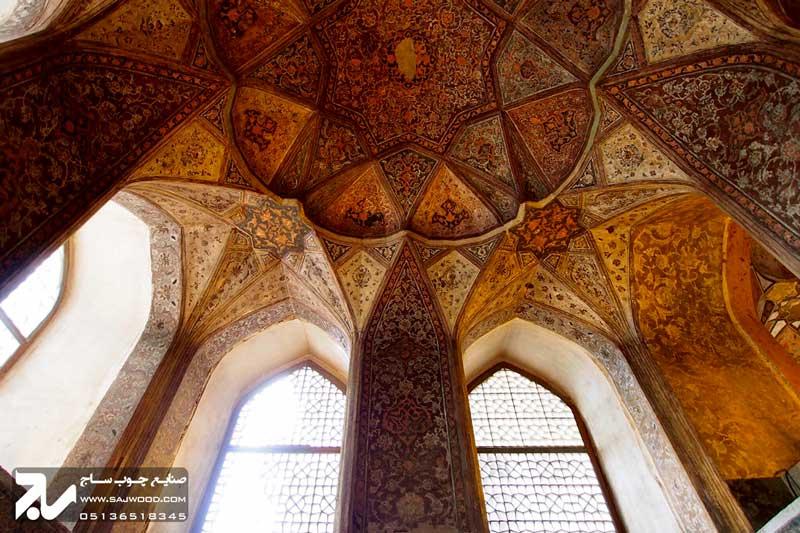 پنجره چوبی سنتی|کاخ هشت بهشت اصفهان