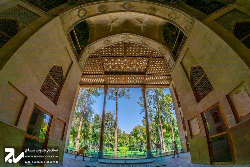 پنجره سنتی ارسی چوبی |کاخ هشت بهشت اصفهان