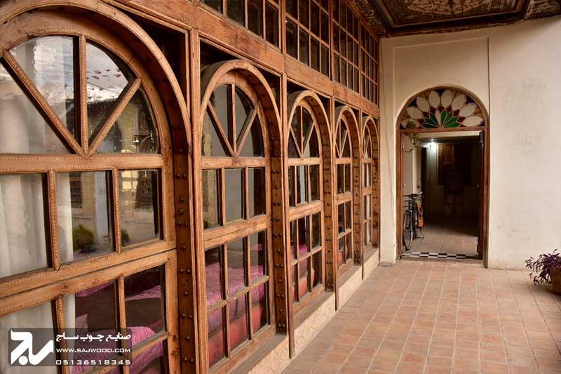 پنجره چوبی سنتی ارسی|خانه منطقی نژاد