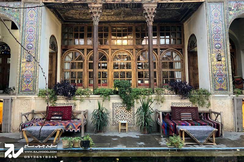 پنجره سنتی چوبی ارسی شیشه رنگی|خانه منطقی نژاد