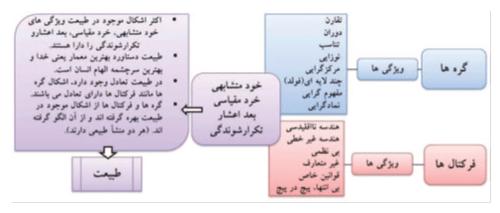 ویژگی گره ها و فرکتال ها
