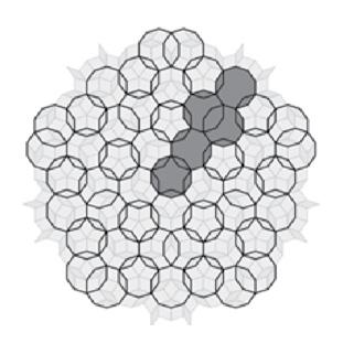 چیدمان 10 ضلعی های متداخل