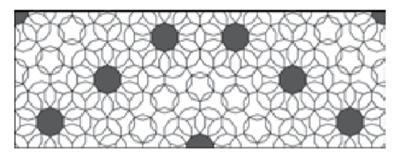 چیدمانی از 10 ضلعی، با نظم شبه تناوبی