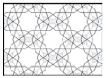 عبور پرتوهای متقاطع با زاویه54 درجه از همه اضلاع شبکه زیر ساختی