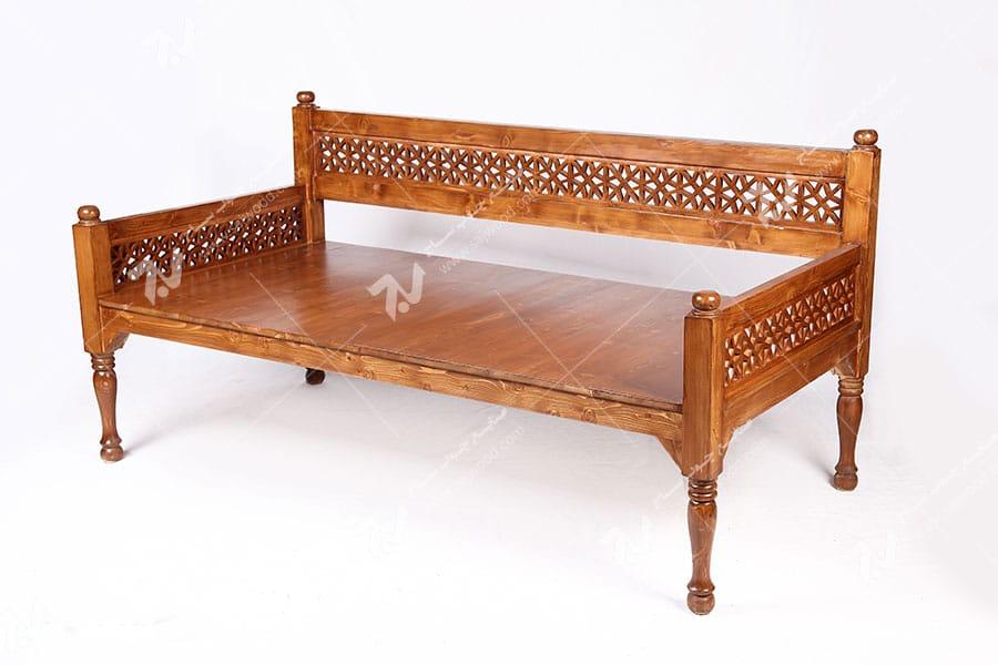 تخت چوبی سنتی گره چینی مشبک - آسا کد۲۰۴