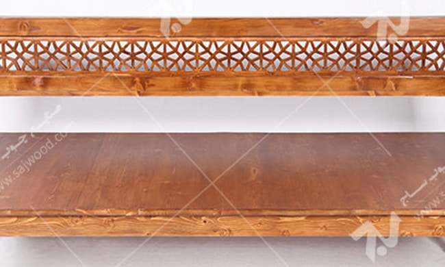 تخت چوبی سفره خانه ( باغی ) سنتی گره چینی مشبک - آسا کد۲۰۴