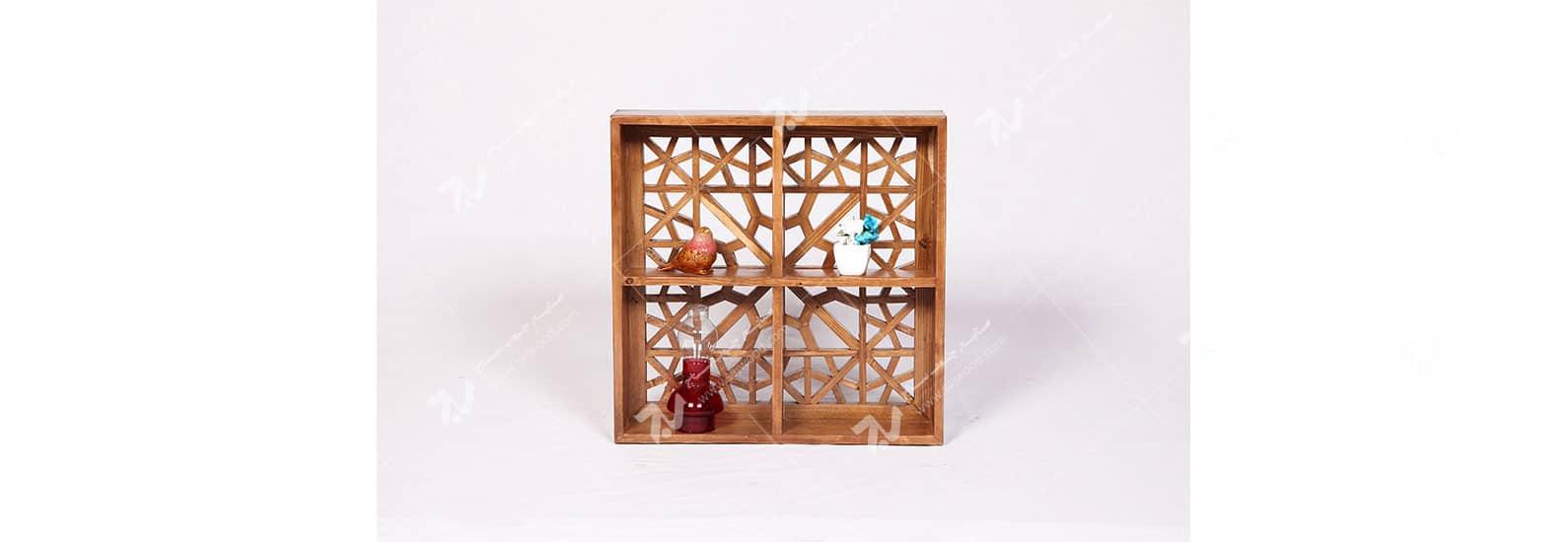 دکوری (شلف ، باکس دیواری ) چوبی سنتی مشبک گره چینی - آذین کد ۶۰۵