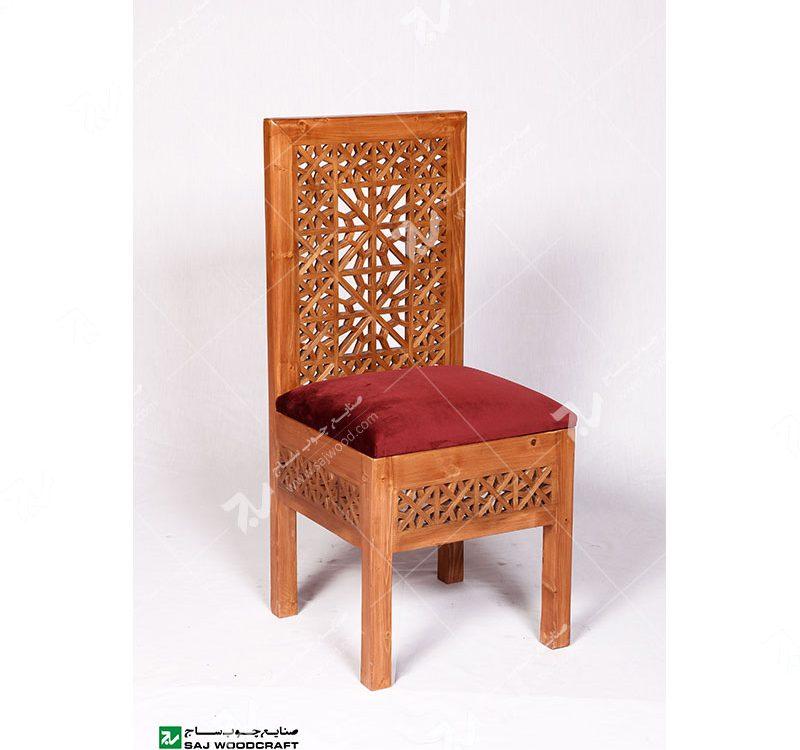 صندلی کلاسیک (ناهارخوری ، مبلمان) چوبی سنتی مشبک – سمن کد۳۰۳